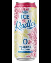 Saku On Ice alkoholivaba õlu Vaarikas, 500 ml