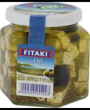 Juustukuubikud õlis, oliividega, 300 g