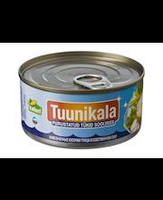 Purustatud tuunikala tükid soolvees 185 g