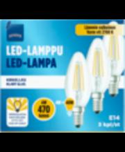 LED-küünal E14 4W 2700K 470LM, 3 tk