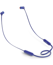 Nööpkõrvaklapid JBL T110BT, sinine