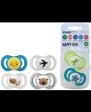 Esska Happy Mini silikoonist lutt, 0-6 elukuud, 2 tk