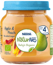 NaturNes õuna-virsiku püree 125 g, alates 4-elukuust