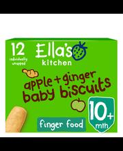 Ella´s õuna-ingveri beebiküpsised 108 g, öko, alates 10-elukuust
