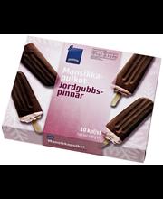 Maasikajäätis šokolaadimaitselise glasuuriga, 10 x 70 ml
