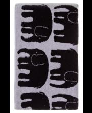 Froteerätik Elefantti 70x150 cm, must/hall 100 % puuvill