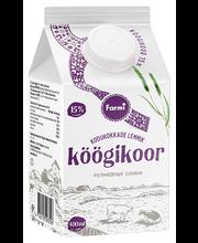 Köögikoor 15%, laktoosivaba 400 ml