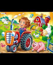 Puzzle Farm: laps traktoriga