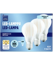 LED-lamp E27 7W 4000K 806LM, 3 tk