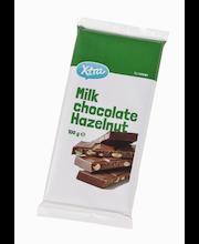 X-tra purustatud metsapähklitega piimašokolaad 100 g