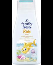 Dushigeel-shampoon Kids 2-in-1 500 ml lastele