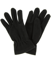 Naiste sõrmkindad fliisist, must, S-M