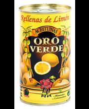 Rohelised oliivid sidrunitäidisega 350/150 g
