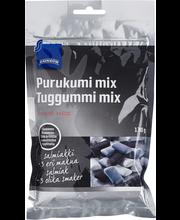 Rainbow Xylitol Salmiakki Mix närimiskummid 130 g