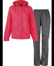 Naiste vihmajope+püksid London, korall/hall 40