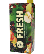 Aura Fresh õuna-kirsi-aroonia mahlajook, 2l