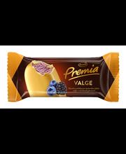 Mustika-põldmarjajäätis valges šokolaadiglasuuris, 120 ml