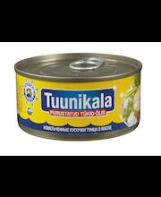 Tuunikala purustatud tükid õlis 185 g