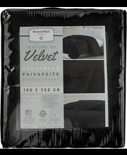 Päevatekk Velvet 160X260 cm, must