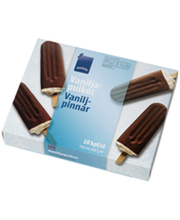Vanillijäätis šokolaadimaitselise glasuuriga, 10 x 70 ml