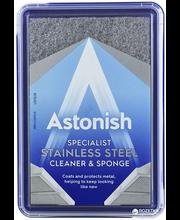 Astonish puhastusvahendiga puhastussvamm roostevabast terases...