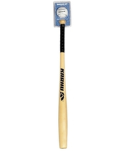 Pesapallikomplekt Bat Ball JR (pall+kurikas 80 cm puit)