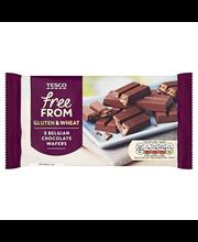 Vahvlitükid šokolaadiglasuuriga gluteeni- ja nisuvabad 107 g