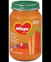 Milupa porgandipüree veiseliha ja tomatiga 200 g, alates 6-elukuust