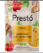 Ökoloogiline köögiviljapüreesupp kanafileega 300 g