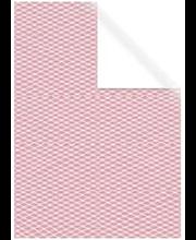Raamatupaber 70x200cm roosa valged ruudud