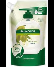 Vedelseep Naturals Milk Olive 500 ml täitepakk