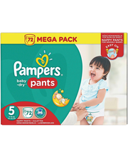 Pampers püksmähkmed Baby Dry Pants 5 Mega Pack, 12-17 kg, 72 tk