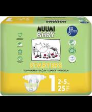 Muumi Baby teipmähkmed Starters 1,  2-5 kg, 25 tk