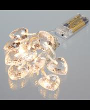Valguskett Crystal Heart 10LED ( patareid 2x AA-ei sisaldupak...