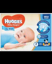 Huggies teipmähkmed Ultra Comfort 3 Mega Pack, poisile, 5-9 k...