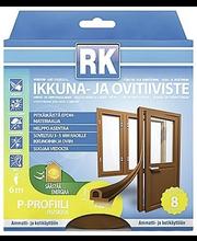 M-akna- ja uksetihend 6 m pruun