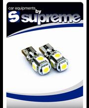 Autolambid LED T10 5 LEDI valge 2 tk