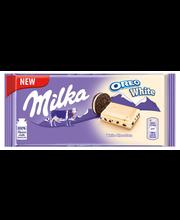 Milka valge šokolaad Oreo küpsisega 100g