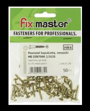 Fixmaster puidukruvi, ümarpea, 3,5 x 20 mm, 50 tk