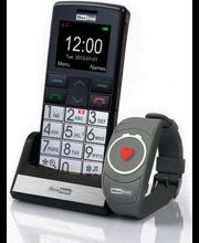 Mobiiltelefon SOS-turvanupuga ja -turvarandmevõruga Maxcom MM715BB