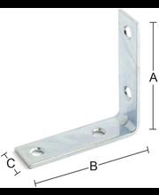 Nurgakinnitus 6111 50x50x15 mm, tsingitud teras