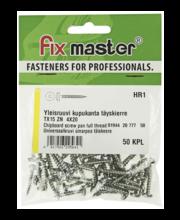 Fixmaster universaalkruvi, ümarpea, TX15 ZN, 4,0 x 20 mm, 50 tk