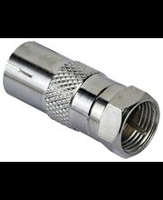 Videoadapter Coax pesa - SAT-otsik, metall