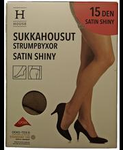 Naiste sukkpüksid Satin Shiny 15 den must, 36-40