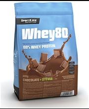 Vadakuvalk Whey80 šokolaadi, steviaga, 600 g