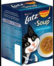 Latz Soup Fish Selection täiendsöödavalik kassidele, 6 x 48 g