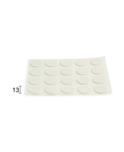 Kattekleebis 20tk 13 mm valge