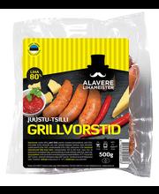 Juustu-tšilli grillvorstid, poolsuitsu, 500 g
