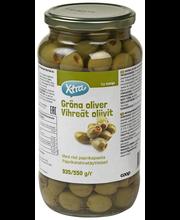 Rohelised oliivid paprikatäidisega 935/550 g