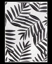 Laudlina Helmi Leaf 140x250 cm, must/valge